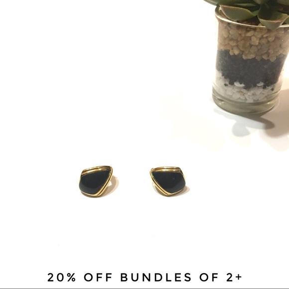 de28a129de6c0c Monet Jewelry | Vintage Signed Navy Enamel Hoop Earring | Poshmark